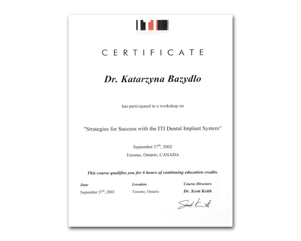 Foundation for Oral Implantology Certificate