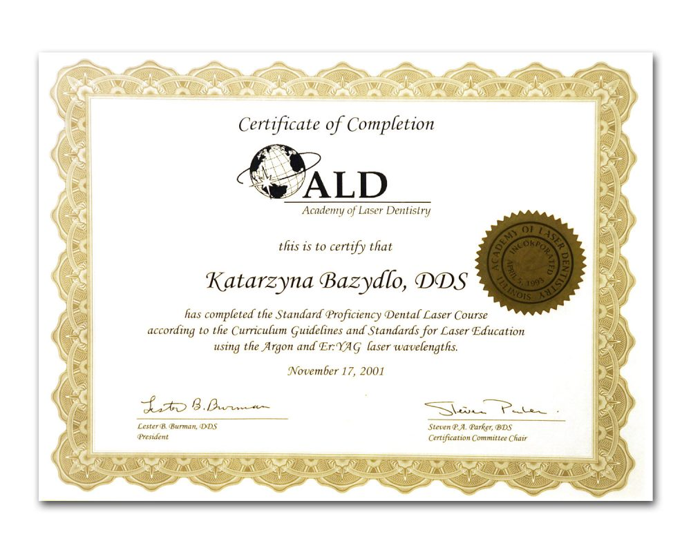 Laser Dentistry Certificate