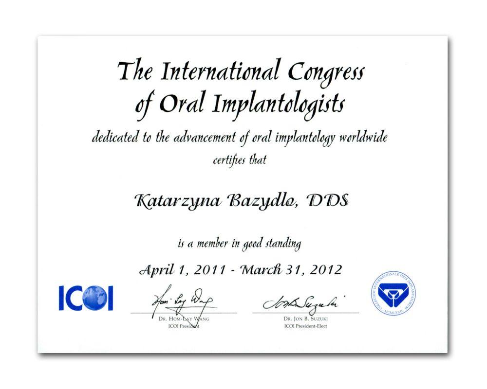 ICOI Certificate
